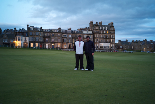 Cam and Mike at St. Andrews Golf Course