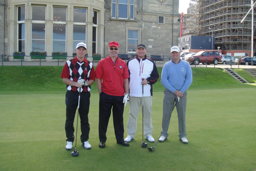 Cameron Strachan at the Old Course